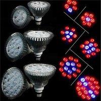 Wholesale Hydroponics LED Grow Lights W W W W W E27 Full Spectrum LED Grow Lamp PAR Spotlight Bulb for Flower Plant Grow Box