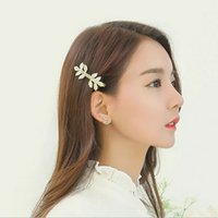 Wholesale 10Pcs Gold Silver Vintage Girls Womens Retro Hair Clip Barrette Clip Leaves feathers Hairpin Hair Accessories