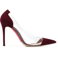 Cheap 2016 Women Shoes Spring &autumn Ladies Shoes 12CM wedding Party Pointed toe Shoes Single shoe Wine Red Color Nice and Suitable Young Lady