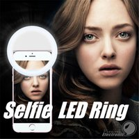 Wholesale Selfie LED Ring Flash Fill Light Clip Camera For Phones Apple iPhone Samsung S7