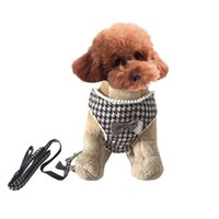 Wholesale Houndstooth Grid design Pet Dogs Chest Harness Free Ship Pet harness dogs chest harness dog product dog apparel pet supplies