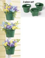 Wholesale 3 Pc Unique Gutter Downspout Garden Flower Pot Plant Planter Container Set Plant Pots For Placing Around Drainpipes