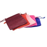 air compressing - Factory direct sales high grade Flannel Velvet Drawstring bag pouch jewelry gift bags Size CM China Post Air Mail