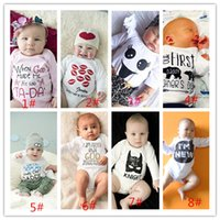 baby boy costumes - Newborn INS Baby Boys Rompers Costumes Lovely Child Letters Printed Jumpsuit One piece Romper Cotton hight quality