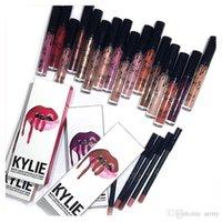 Wholesale NEW Kylie Lip Gloss Lipstick Boxset Lipstick Lipliner Kylie Jenner Matte Lipstick colors Avaialable now