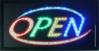Wholesale 20pcs business Hot Sale led open signs10X19 Inch semi outdoor for the shop opening