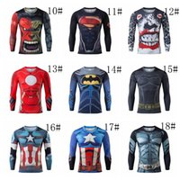 batman t shirt for men - 18styles long sleeve t shirt Ant Man Batman spider man captain America Hulk Iron Man t shirt The Avengers d t shirts for men
