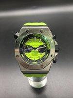 Wholesale NEW Luxury Top Quality Wristwatch Royal Oak Offshore NAVY Blue Quartz Stopwatch Chronograph Mens Watch Fashion