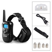 Wholesale 300 Yard Rechargeable LCD LV Level Shock Vibra Remote Pet Dog Training Collar