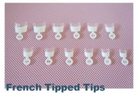 Wholesale Medium White french nail wrap tips French Tipped tips professional salon manicure tip set
