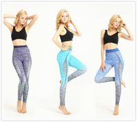 Wholesale Blue Red Casual Comfortable Womens Running Yoga Gym Sports Ombre Pants Legging Elastic Trousers Girl Outdoor High Waist Fitness