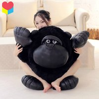 ape movies - 1pcs cm movie Planet of the Apes Rise stuffed toy King Black orangutan chimpanzee plush toy throw pillow birthday gift