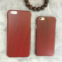 abs texture - Fashion full cover super thin PC protection case with wood textures for Iphone plus se s