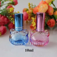 Wholesale 50pcs ml Perfume Bottle with Sprayer Cat Shaped Empty Glass Spray Refillable Bottles Cosmetic Parfum Container