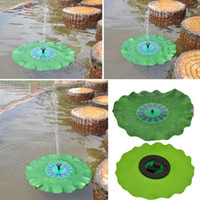 Wholesale 7V W Lotus Leaf Floating Water Pump Solar Panel Garden Plants Watering Power Fountain Pool Fish pond fountain decoration by Birdbath