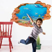 acrylic wall aquarium - 3 d wall aquarium wall stickers The sitting room balcony waist line Fashion simple wall stickers Indoor wall stick