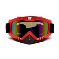 Wholesale 2016 Cheap Off Road Racing Motocross ATV Bikes Motorcycle Goggles Eyewear Colors Clear Dark Brown Lens