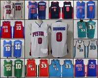andre for men - A High Quality new arrival Detroit Andre Drummond Dennis Rodman Grant Hill blue white jersey for mens