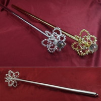 Wholesale Fashion Scepters Three Dimenshional Bub Shape Pageant Accessories Props Bridal Beauty Queen Winner Cosplay Party Accessories Scepter Mk025