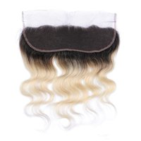 Cheap Best Selling Brazilian Lace Frontal Closure Body Wave Human Hair 1B 613 Color 13X4 Ear to Ear Lace Frontal With Baby Hair