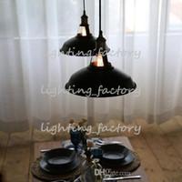 art deco dining room sets - diameter mm black Steel Edison Pendant Lamp ceiling lamp hanging lamp edison bulb industrial style DIY ligthing set V V