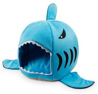 Wholesale 24Pcs Shark Mouth Kennel Pets Dogs bed Dogs Cats House Removable and Washable Pets Supplies