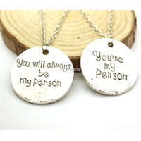 anatomy heart necklace - Grey Anatomy Necklace Hot Sales Letter You Are My Person You Will Always Be My Person Pendant Necklace