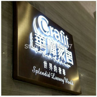 Wholesale Outdoor advertising business illuminated open sign D channel letters stainless steel backlit sign letters