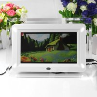 Wholesale New Multi functional inch TFT LCD desktop hd Digital Photo Frame Remote control Movies MP3 MP4 Player Music Alarm Clock