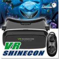 al por mayor xbox para pc-Vr Shinecon 3d gafas para juegos de PC / películas / xbox con el diente azul remoto Vr 3d gafas Realidad virtual para 4 ~ 5,7 pulgadas Smartphones para la película en 3D