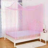 Wholesale Quadrate Mosquito Net Durable Bedding Canopy Simple Design Bed Curtain Mesh Mosquito Net Summer Supply JQ0045