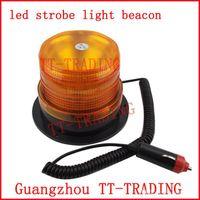 Wholesale Led flash light strobe Warning light ambulance strobe light traffic signal light DC12V strobe beacon Amber red blue