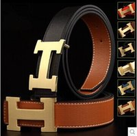Wholesale hot sell new hip brand h buckle l designer belts for men women genuine leather gold cinto belt v Men s