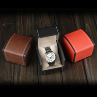 Wholesale New Brand Fashion Paper Watch Box With Pillow Packing Black Gift Box for watches Case Cheap Price