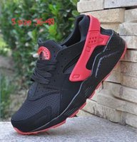 Wholesale 2016 New White Air Huarache Men Women Sneaker Black Red White Sneakers Breathable Running Shoe Huaraches size US5 Free Shippin