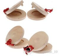 Wholesale 300pcs CCA1995 Wooden Roundelay Castanets Music Teaching Instrument Children Preschool to improve children musicality Early Education