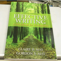 b magazine - New Book Effective Writing A Handbook for Accountants th Edition by Claire B May Gordon S May Free DHL