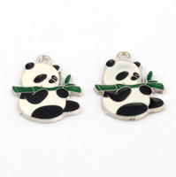 Cheap Charms Charms Best Slides, Sliders Panda eating Bamboo leaves Panda eating Bamboo leaves