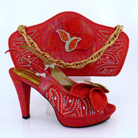 beautiful dresses for women - New Arrival Fashion Rhinestone Beautiful Shoes And Bag Set Italian summer Style Shoes And Matching Bag Set For Party