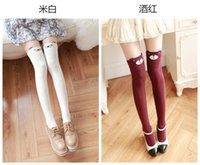 Wholesale Women Sexy Autumn Winter Favorite Cute Thigh Long Cotton Socks Funky D Cartoon Animal Over Knee High Seamless netred Socks