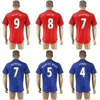Wholesale Premier League MNU home football shirts Men s Away soccer jerseys thai quality Customized any name