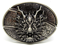 antique novelties - Antique Style Dragon with Knife Belt Buckle SW B448 brand new condition