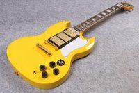 Cheap 2016 New New arrival Les Custom Historic SG electric guitar,Yellow 3 pickups custom SG solid guitar,Golden hardware,Free shipping