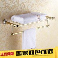 antique shelf - European gold antique porcelain bathroom towel rack towel bathroom towel rack shelf set
