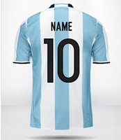 argentina soccer team - 2015 Online customized Popular personalized Team Athletics Jerseys Thai Quality Argentina Custom Soccer Jersey Tops Shirts Jerseys