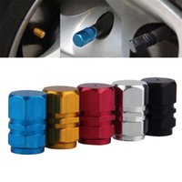 Wholesale New pack Theftproof Aluminum Car Wheel Tires Valves Tyre Stem Air Caps Airtight Cover hot selling