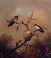 art rubies - Nice Birds Ruby Throated Hummingbird Modern Hand painted Art Oil Painting Home Wall Decor on High Quality Canvas in custom sizes
