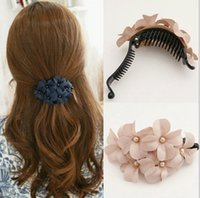 banana hair style - Hot Selling Summer Style Hair Pin Claw Chic Women Girl Handmade Flower Banana Barrette Hair Clip