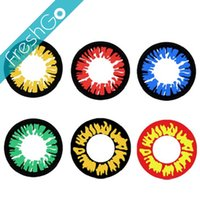 Wholesale Werewolf Crazy Contact Lens Vampire Halloween Contacts Red Crazy Lens Ready Stock