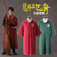Wholesale Colors Harry Potter Cloak Cosplay Costumes Quidditch Performance Wear Gryffindor Slytherin Robe Sport Uniform Halloween Gifts